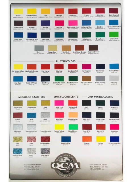 Qcm Ink Color Chart Free